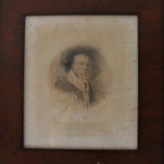 Arte: INGLATERRA ANTIGUO GRABADO SOBRE ENTELADO DEL ALMIRANTE INGLES LORD BARHAM 1809 - PRINCIPIOS XIX. Lote 38913605
