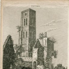 Arte: OSNEY ABBEY NEAR OXFORD AS IT APPEARED IN 1640' GRABADO POR DALE EN 1820. Lote 38914483