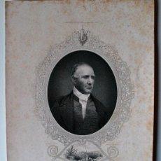 Arte: GRABADO MUY ANTIGUA DE SAMUEL HOUSTON, PRIMER PRESIDENTE DE LA REPUBLICA DE TEXAS . Lote 39151273