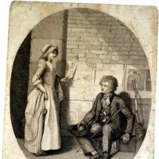 Arte: GRABADO INGLÉS TITULADO THE BALLAD SELLER - FECHADO EN EL AÑO 1795. Lote 39203188