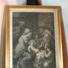 Arte: ANTIGUO GRABADO ADORACION DE LOS PASTORES-SIGLO XVIII. Lote 39343956