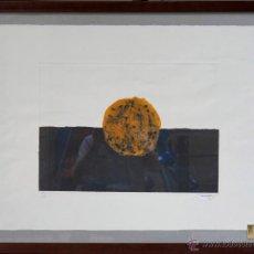 Arte: GRABADO ENMARCADO FIRMA ILEGIBLE, DEDICADO A JOAN BROSSA, TAMAÑO MARCO: 70X90 CM.. Lote 39746658
