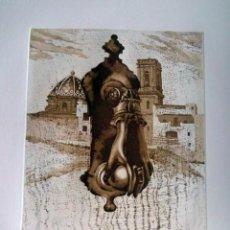 Arte: GRABADO AGUAFUERTE DE ALTEA FIRMADO JENS RUSCH. Lote 39459847