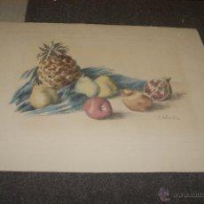 Arte: RAMON RIBAS RIUS. GRABADO. BODEGON. . Lote 39685949