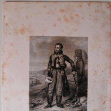 Arte: GRABADO MUY ANTIGUO DEL GENERAL LASALLE (GROS PINXIT, TAVERNIER SCULPIT). Lote 39540428