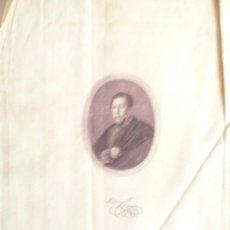 Arte: GRABADO SOBRE TELA - A . SERRA - 1928 - SERIE HISTÓRICA - ?ANDREY PI ?. Lote 39592841