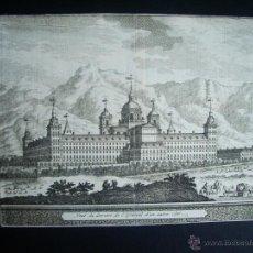 Arte: 1707-GRABADO DEL ESCORIAL.MADRID.ORIGINAL DE VAN DER AA. JUAN ALVAREZ DE COLMENAR. Lote 39684835