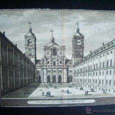 Arte: 1707-GRABADO DEL ESCORIAL.MADRID.ORIGINAL DE VAN DER AA. JUAN ALVAREZ DE COLMENAR. Lote 39684843