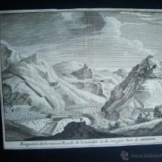 Arte: 1707-GRABADO DE GENERALIFE. GRANADA.ORIGINAL DE VAN DER AA. JUAN ALVAREZ DE COLMENAR. Lote 39684880