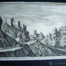 Arte: 1707-GRABADO DE LA ALHAMBRA. GRANADA.ORIGINAL DE VAN DER AA. JUAN ALVAREZ DE COLMENAR. Lote 39684928