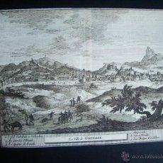 Arte: 1707-GRABADO VISTA DE GRANADA.ORIGINAL DE VAN DER AA. JUAN ALVAREZ DE COLMENAR. Lote 39685006