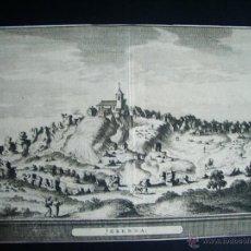 Arte: 1707-GRABADO DE GERENA. SEVILLA.ORIGINAL DE VAN DER AA. JUAN ALVAREZ DE COLMENAR. Lote 39685311