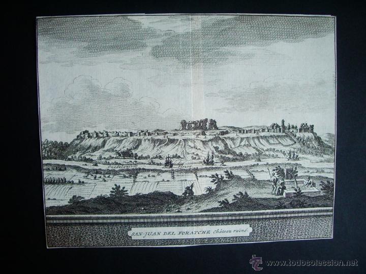1707-GRABADO SAN JUAN DE AZNALFARACHE.SEVILLA.ORIGINAL DE VAN DER AA. JUAN ALVAREZ DE COLMENAR (Arte - Grabados - Antiguos hasta el siglo XVIII)