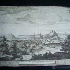 Arte: 1707-GRABADO DE VÉLEZ MÁLAGA.ORIGINAL DE VAN DER AA. JUAN ALVAREZ DE COLMENAR. Lote 39685370