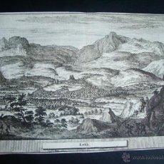 Arte: 1707-GRABADO DE LOJA. GRANADA.ORIGINAL DE VAN DER AA. JUAN ALVAREZ DE COLMENAR. Lote 39685399