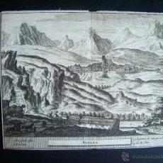 Arte: 1707-GRABADO DE ALHAMA DE GRANADA.ORIGINAL DE VAN DER AA. JUAN ALVAREZ DE COLMENAR. Lote 39685415