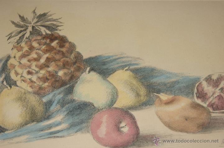 Arte: Ramon Ribas Rius. Grabado. Bodegon. - Foto 3 - 39685949