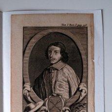 Arte: GRABADO MUY ANTIGUO DEL CARDENAL FRANCISCO PABLO GONDI, CARDENAL DE RETZ (SIGLO XVIII). Lote 39694913