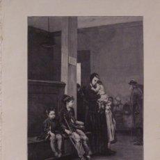 Arte: LOS INFORTUNADOS. GRABADO 40 CM. X 28'5 . LA ILUSTRACIÓN ESPAÑOLA Y AMERICANA 1889. Lote 39709868