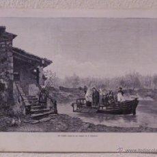 Arte: EL PASO. GRABADO 40 CM. X 28'5. LA ILUSTRACIÓN ESPAÑOLA Y AMERICANA 1889. Lote 39710213
