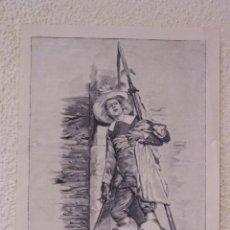 Arte: PRO PATRIA. GRABADO 40 CM. X 28'5. LA ILUSTRACIÓN ESPAÑOLA Y AMERICANA 1889. Lote 39710246