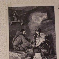 Arte: UN ALMA ENFERMA. GRABADO 40 CM. X 28'5. LA ILUSTRACIÓN ESPAÑOLA Y AMERICANA 1889. Lote 39710275