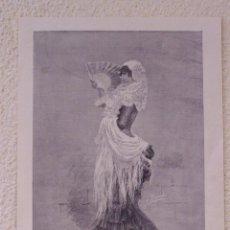 Arte: FLAMENCO MEZCLADO. GRABADO 40 CM. X 28'5. LA ILUSTRACIÓN ESPAÑOLA Y AMERICANA 1889. Lote 39710292