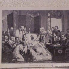 Arte: LA MUERTE DE RUBENS. GRABADO 40 CM. X 28'5. LA ILUSTRACIÓN ESPAÑOLA Y AMERICANA 1889. Lote 39710346