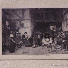 Arte: UN DUELO EN EL PALATINADO. GRABADO 40 CM. X 28'5. LA ILUSTRACIÓN ESPAÑOLA Y AMERICANA 1889. Lote 39710366