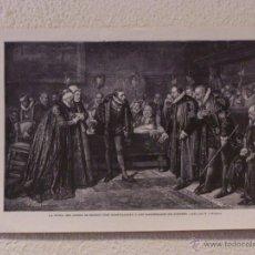 Arte: LA VIUDA DEL CONDE. GRABADO 40 CM. X 28'5. LA ILUSTRACIÓN ESPAÑOLA Y AMERICANA 1889. Lote 39710393