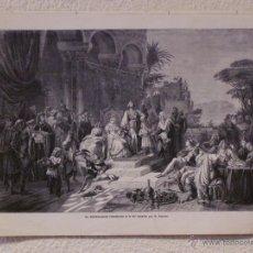 Arte: EL EMPERADOR FEDERICO II. GRABADO 40 CM. X 28'5. LA ILUSTRACIÓN ESPAÑOLA Y AMERICANA 1889. Lote 39710431