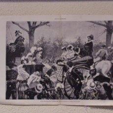 Arte: UNA ESCENA DE CARNAVAL. GRABADO 57 CM, X 40 CM. LA ILUSTRACIÓN ESPAÑOLA Y AMERICANA 1889. Lote 39716728