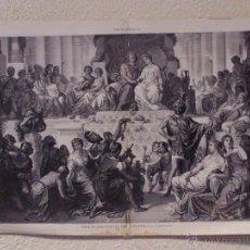 Arte: LA BODA DE ALEJANDRO MAGNO EN SUSA. GRABADO 57 CM, X 40 CM. LA ILUSTRACIÓN ESPAÑOLA Y AMERICANA 1889. Lote 39716854