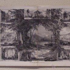 Arte: PAISAJE A ORILLAS DEL MOSELLA. GRABADO. 57 CM, X 40 CM LA ILUSTRACIÓN ESPAÑOLA Y AMERICANA 1889. Lote 39716899