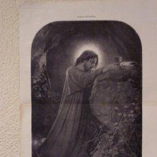 Arte: LA ORACIÓN DEL HUERTO. GRABADO 57 CM, X 40 CM. LA ILUSTRACIÓN ESPAÑOLA Y AMERICANA 1889. Lote 39717121