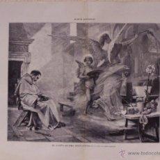 Arte: EL SUEÑO DE FRA ANGELICO. GRABADO 57 CM, X 40 CM. LA ILUSTRACIÓN ESPAÑOLA Y AMERICANA 1889. Lote 39717191