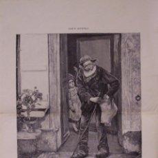 Arte: EL MENDIGO. GRABADO 57 CM, X 40 CM. LA ILUSTRACIÓN ESPAÑOLA Y AMERICANA 1889. Lote 39717233