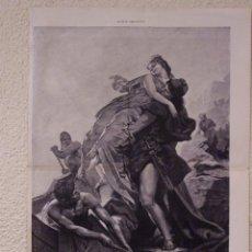 Arte: EL RAPTO DE ELENA. GRABADO 57 CM, X 40 CM. LA ILUSTRACIÓN ESPAÑOLA Y AMERICANA 1889. Lote 39717272