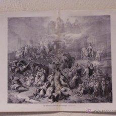 Arte: LA DESTRUCCIÓN DE JERUSALEN. GRABADO 57 CM, X 40 CM.. LA ILUSTRACIÓN ESPAÑOLA Y AMERICANA 1889. Lote 39717321