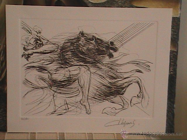EXCELENTE GRABADO ORIGINAL DE JEAN DUPUIS. CHEVAL.NUMERADO Y FIRMADO A LÁPIZ. (Arte - Grabados - Contemporáneos siglo XX)