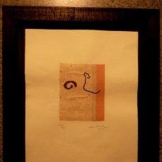 Arte: GRABADO CON FIRMA ILEGIBLE,BIEN ENMARCADO 53/80 . Lote 40005973