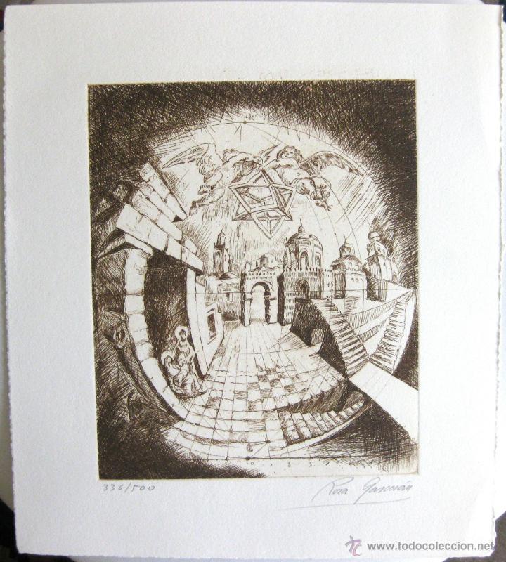 ROSA GARCERÁN PIQUERAS: 'SIN TÍTULO', GRABADO AL AGUAFUERTE, CA. 1989, (Arte - Grabados - Contemporáneos siglo XX)