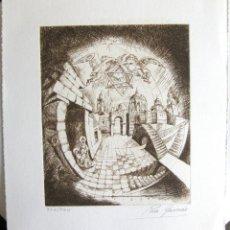 Arte: ROSA GARCERÁN PIQUERAS: 'SIN TÍTULO', GRABADO AL AGUAFUERTE, CA. 1989,. Lote 40083842