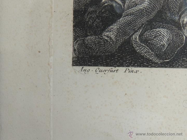 Arte: GRABADO DEL SIGLO XVIII FIRMADO POR AUG QUERFURT (1696-1761) - Foto 6 - 40211220