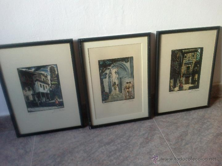 3 grabados enmarcados de castells marti de extr - Comprar Grabados ...