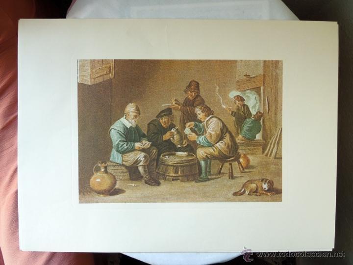 REPRODUCCION GRABADO PROCEDENTE DE LA GALERÍA APOLLO DE BRUSELAS - ESCENAS COSTUMBRISTAS (Arte - Grabados - Contemporáneos siglo XX)