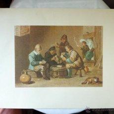 Arte: REPRODUCCION GRABADO PROCEDENTE DE LA GALERÍA APOLLO DE BRUSELAS - ESCENAS COSTUMBRISTAS. Lote 40304682
