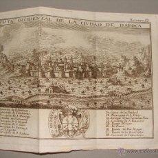 Arte: VISTA OCCIDENTAL DE LA CIUDAD DE DAROCA. GRABADO POR PALOMINO. 1779. ORIGINAL. IMPECABLE.. Lote 40366726