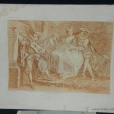 Arte: GRABADO SIGLO XIX XX SIGUIENDO MODELOS SIGLO XVIII NICOLAS LANCRET GRAVÉ AUBERT RUE CHATEAU D ÉAN. Lote 40478468