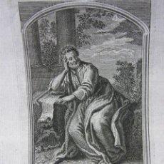 Arte: GRABADO SIGLO XVII- XVIII SAN MATEO APÓSTOL Y EVANGELISTA LE BRUN PINXIT C DUPLES SCULP. Lote 40478832